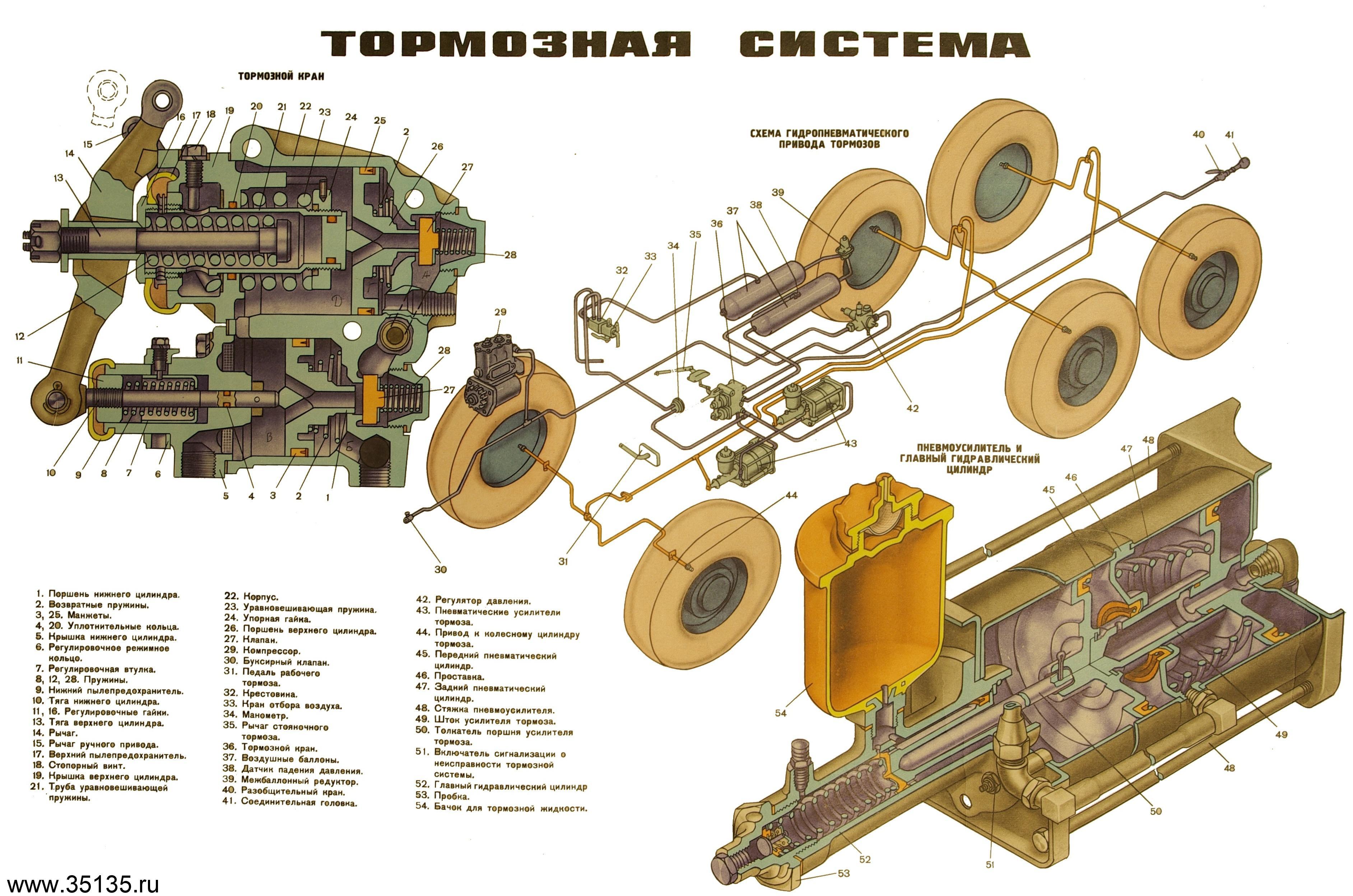 Воздушная система урал 375 схема