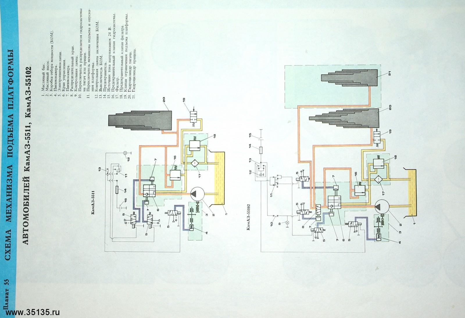 платформа камаз 65115 схема цветная